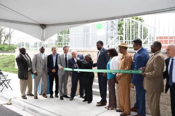 Maywood celebrates grand opening of new west suburban Metra station