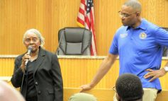 Boykin addresses residents at Maywood town hall meeting