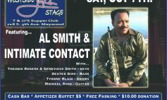 Jazz-extraordinaire Al Smith takes center state at TJ&J's Oct 7