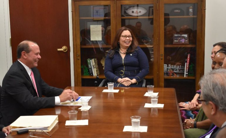 Infrastructure a priority in meeting with Sen. Duckworth