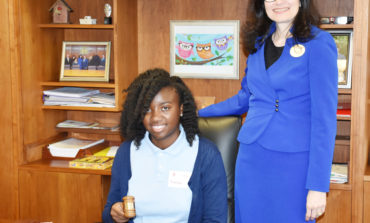 Stevenson Middle School student selected to serve as Triton's President for a Day