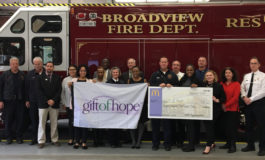 Village of Broadview and the Broadview Fire Department bestow generous donation to Gift of Hope