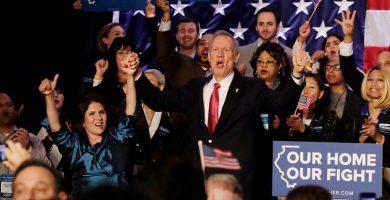 Embattled Illinois Gov. Bruce Rauner wins his primary