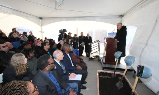 Cook County Officials and local partners break ground at affordable housing site in Maywood