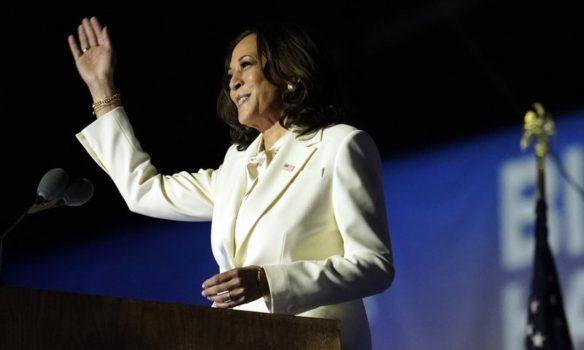 Transcript of Vice President-elect Harris' victory speech